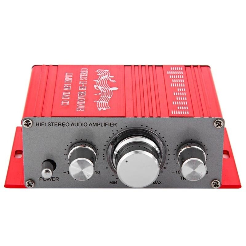 Aluminum Hi-Fi Mini Digital FM Motorcycle Auto Car Stereo Power Amplifier Sound Mode Audio Support USB CD DVD MP3 for Vehicle Auto Motorbike Boat or Home Use - intl