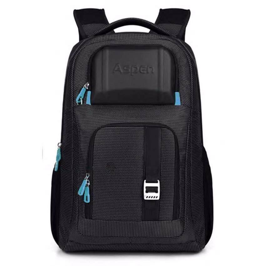 Aspensport กระเป๋าเป้สะพายหลังสำหรับใส่แล็ปท็อป โน๊ตบุ๊ค ขนาด 18นิ้ว สีดำ/ฟ้า