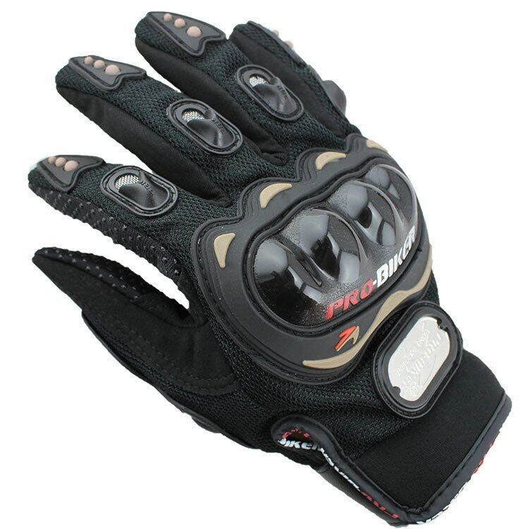 Authentic motorcycle racing gloves Refers to all the four seasons ride motorcycle gloves Size XXL (Black)