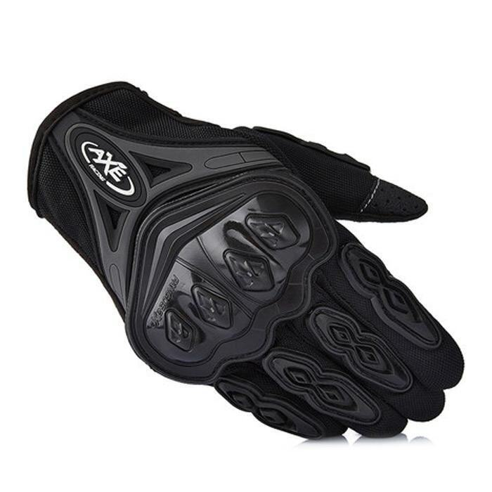 AXE ST-07 Motorcycle Cross-Country Racing Bicycle Riding Protective Gloves Touch Screen Gloves(BLACK)(Size:L)(...) - intl