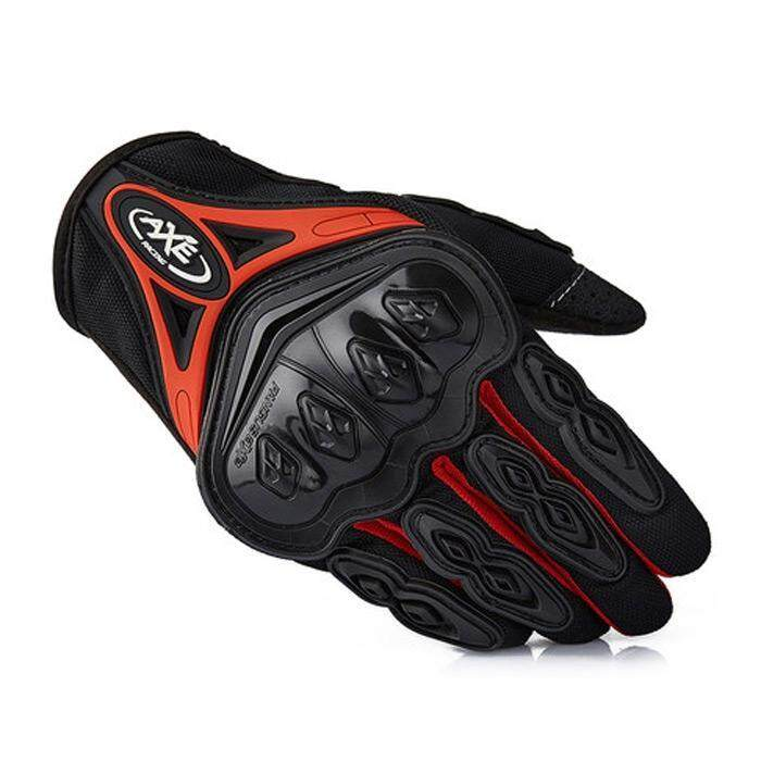 AXE ST-07 Motorcycle Cross-Country Racing Bicycle Riding Protective Gloves Touch Screen Gloves(RED)(Size:M)(...) - intl