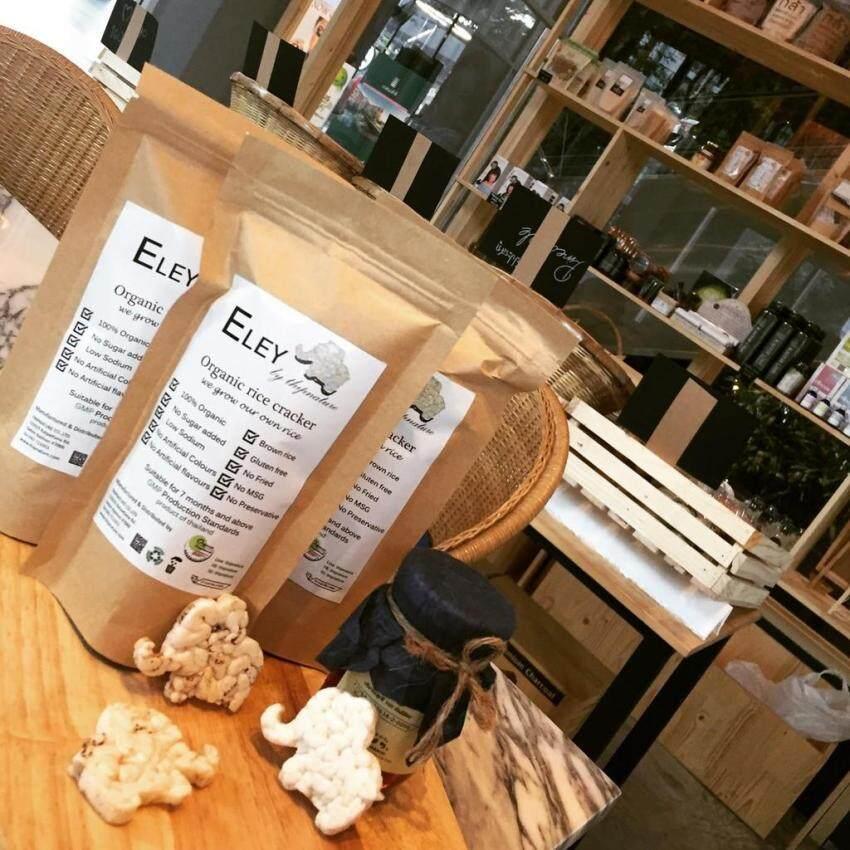 BABY Organic Rice Puffed (Elley) พัฟไรซ์ ของทานเล่นสำหรับเด็ก ออร์แกนิค รูปช้าง (25ก. X 12แพ็ค)