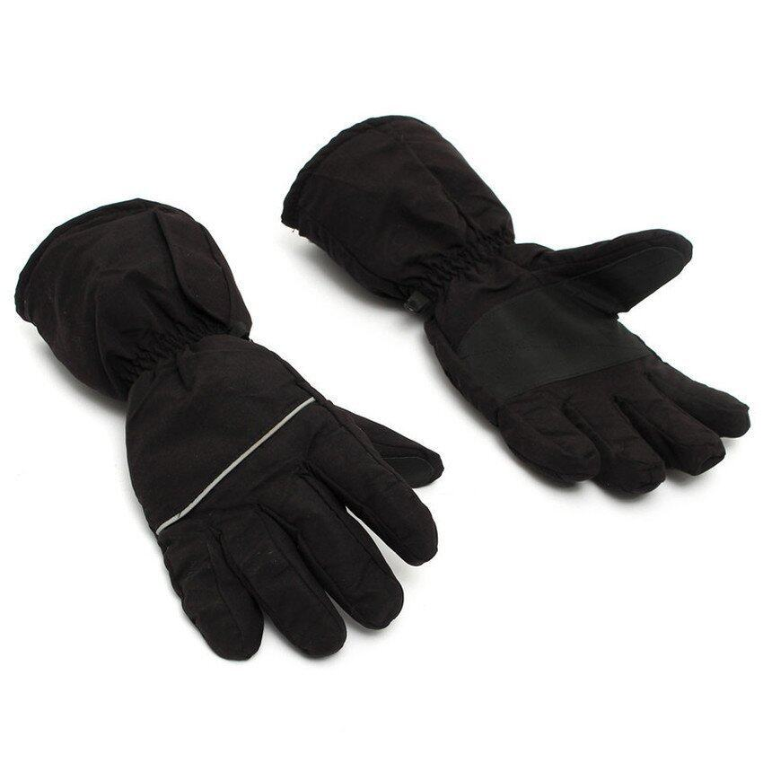 Black Heated Gloves Battery Powered For Motorcycle Hunting Winter Warmer Outdoor (Intl)