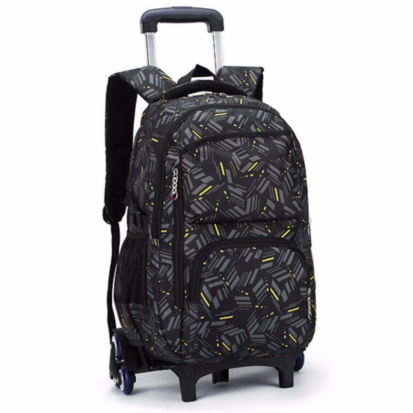กระเป๋าเป้ ล้อลาก เด็กนักเรียน Black x Yellow