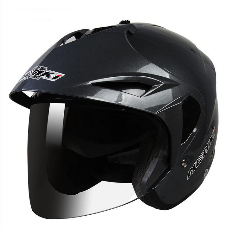 Bright Black HALF-FACE Helmet - intl