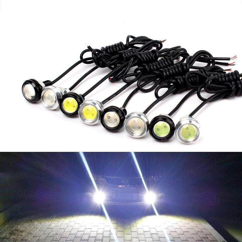 BUYINCOINS 10W 23mm LED Eagle Eye Light Car DRL Daytime Running Strobe Lamp 12V Black&Red - intl ...