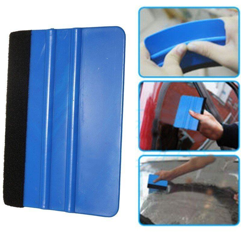 Car Vinyl Film Wrapping Tools Blue Color Scraper Squeegee with Felt Edge - intl ...