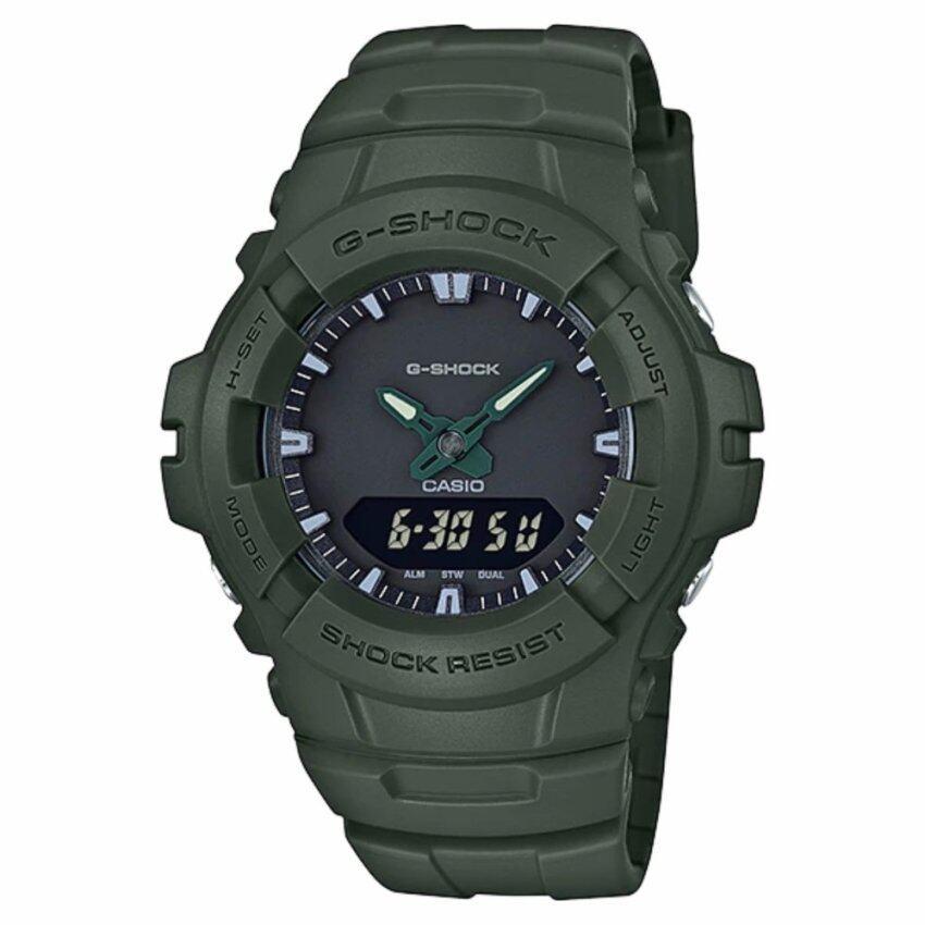 Casio G-Shock นาฬิกาข้อมือผู้ชาย สายเรซิ่น รุ่น G-100CU-3