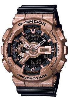 Casio G-Shock นาฬิกาข้อมือผู้ชาย สายเรซิ่น รุ่น GA-110GD-9B2 - สีทองแดง/ดำ image