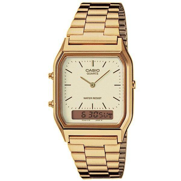 รีบเลย Casio นาฬิกาข้อมือผู้ชาย รุ่น AQ-230GA-9D - Gold ลดราคา