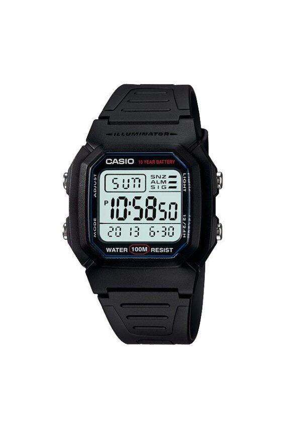 Casio Resin Strap Watch (Black) W-800H-1AV ...