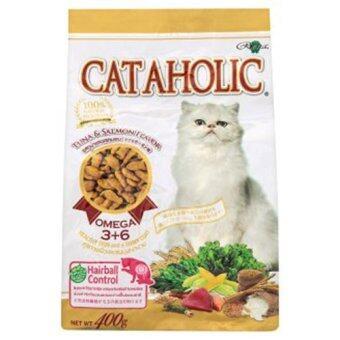 Cataholic ( Tuna& Salmon อาหารเม็ดสำหรับแมว 400 G.