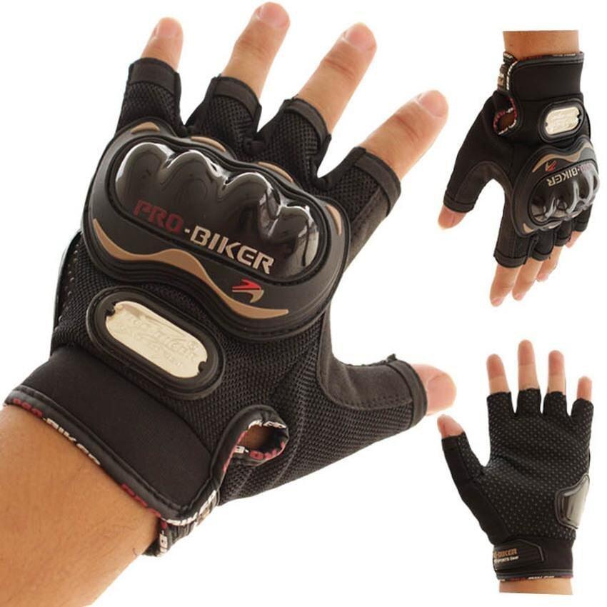 Cestlafit L Size Motorcycle Gloves Probiker half-finger Racing motocrossmotorbike protective gear Motor gloves summer Men Dirt luvas paraBlackL-Black - intl