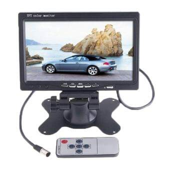 chechang Car RearView Headrest Monitor DVD VCR Monitor Display(Black)