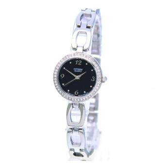 Citizen Watch Quartz Silver Stainless-Steel Case Stainless-Steel Bracelet Ladies NWT + Warranty EJ6070-51E