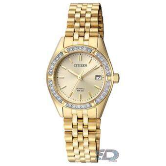 CITIZEN Women's Quartz Stainless Steel Date Watch รุ่น EU6062-50P -Gold