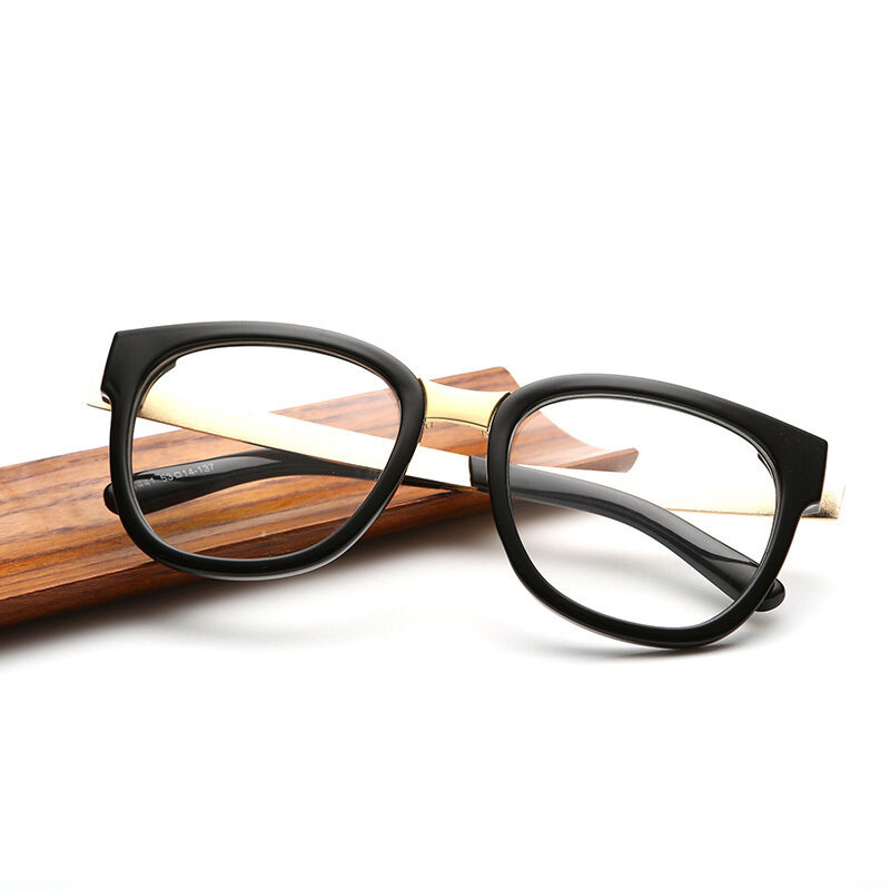 Classic Vintage Style Unisex Squared Simple Clear Lens Fashion Glasses(color1)