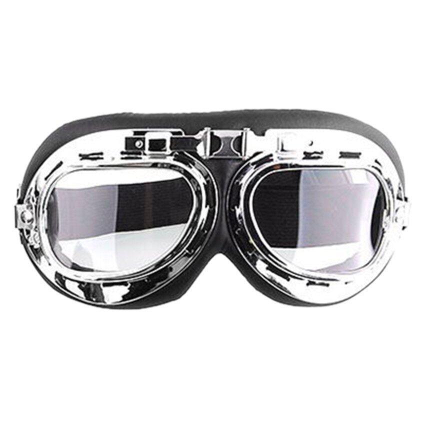 CTO Men Motorcycle Helmet Goggles (Transparent)