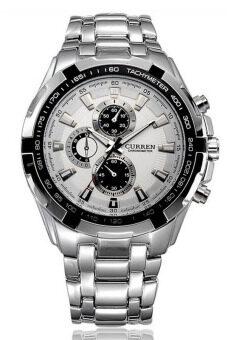 Curren นาฬิกาข้อมือสุภาพบุรุษ สายสแตนเลส รุ่น C8023 - Silver/White image