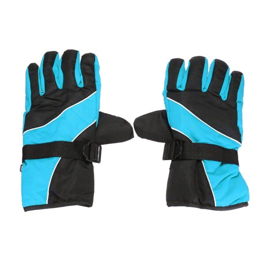 Cycling Winter Cold Weather Gloves Waterproof Windproof Light Blue - intl