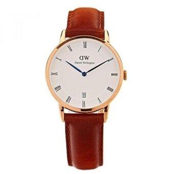 Daniel Wellington Dapper Quartz Gold and Leather Casual Watch Color:Brown (Model: DW00100091) - intl