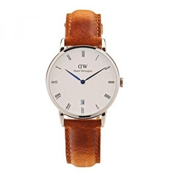 Daniel Wellington Dapper Quartz Stainless Steel and Leather Casual Watch Color:Brown (Model: DW00100114) - intl
