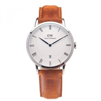 Daniel Wellington Dapper Quartz Stainless Steel and Leather Casual Watch Color:Brown (Model: DW00100116) - intl