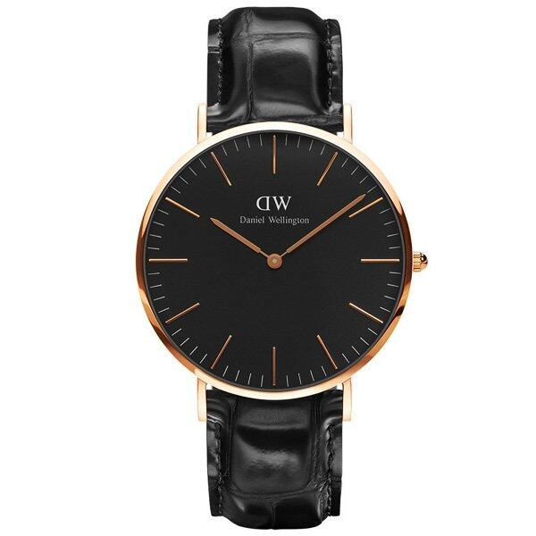 รีบเลย Daniel Wellington DW00100129 Classic Black Reading Horloge 40mmนาฬิกาข้อมือ แฟชั่น ผู้ชาย สีดำ Men Watch - Black ลดราคา