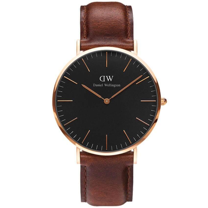 ด่วน Daniel Wellington DW00100136 Classic Black St Mawes 36mmนาฬิกาข้อมือ แฟชั่น ผู้หญิง สายหนัง สีดำ Women Watch - Black DialBrown Strap กำลังลดราคา