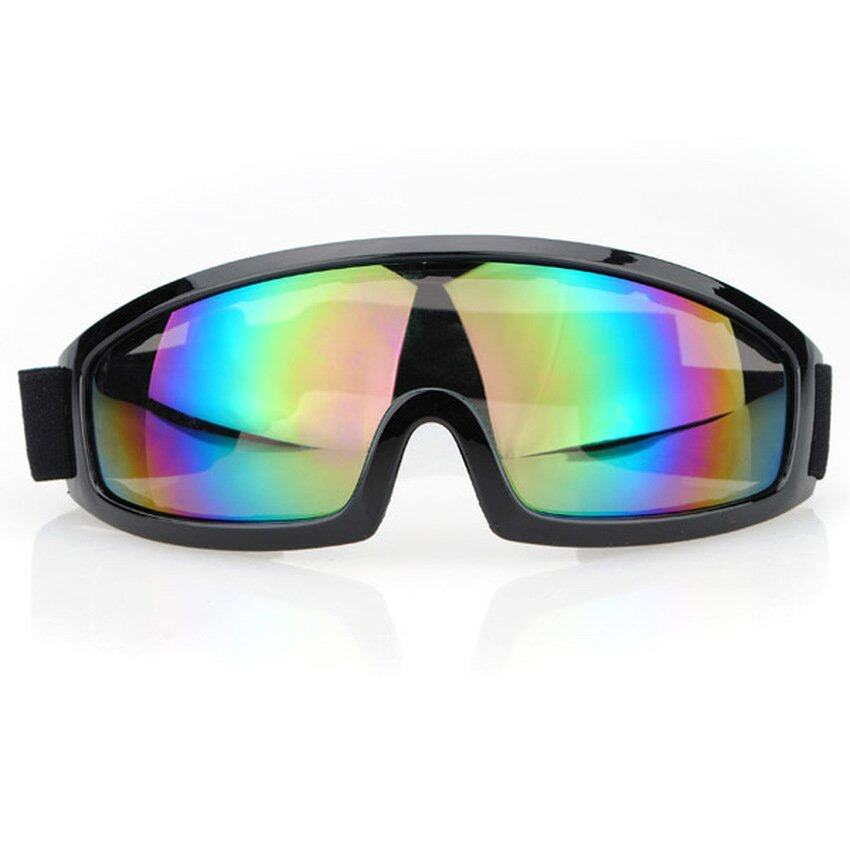 DHS Motorcycle Scooter Goggle Glasses Pilot Style Black Frame Windproof Goggles Bike)