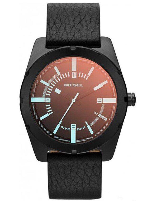 Diesel นาฬิกาข้อมือผู้ชาย สายหนัง รุ่น DZ1632 - Black