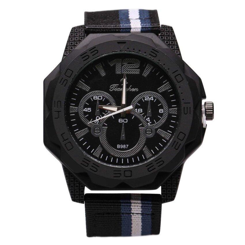 DM นาฬิกาสายนาโต้ รุ่น TZ B987 สีกรมท่า ...