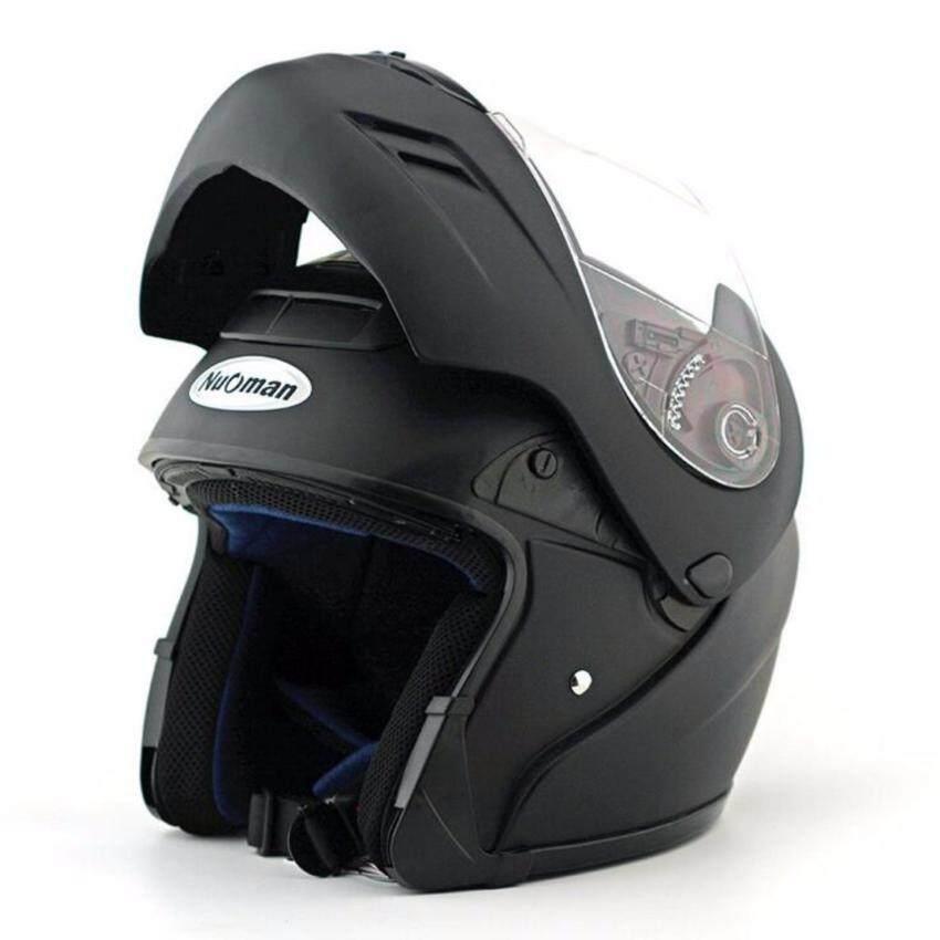 Flip Up Open Face Helmet (Black) - intl