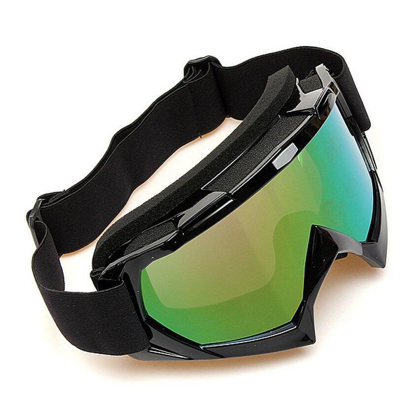 FSH Motocross Off-road Trials Enduro Helmet ATV Dirt Bike Motorcycle Goggles Eyewear Black