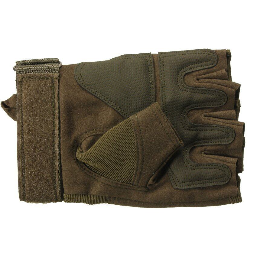 FSH Outdoor Sport Fingerless Military Tactical Gloves Hunting Shooting Motorcycle Green M