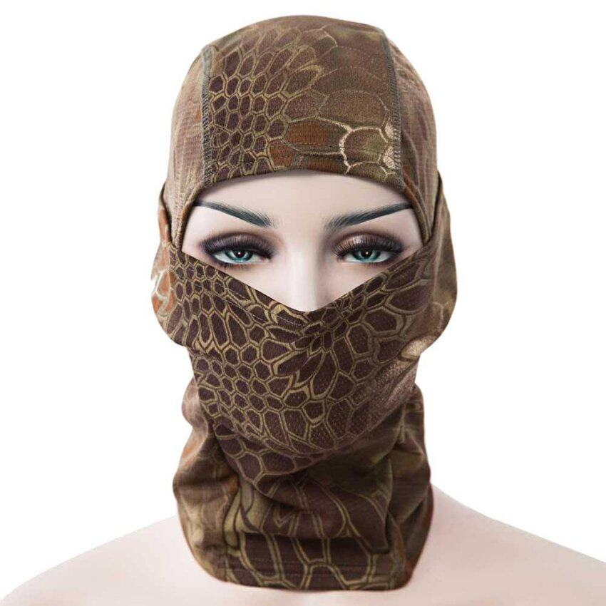 Full Face Motorcycle Tactical Skiing Cycling Face Mask(Coffee) - intl
