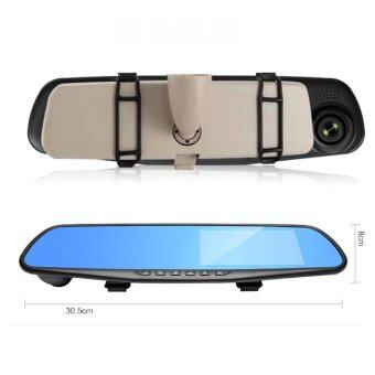 Full HD 1080P 4.3 Video Recorder Dash Cam Rearview Mirror Car Camera DVR(Intl)