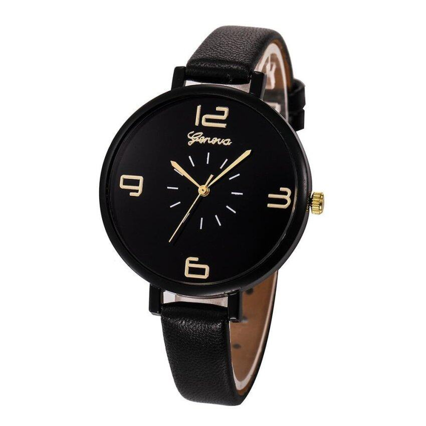 Geneva Women Faux Leather Analog Quartz Wrist Watch - intl ...