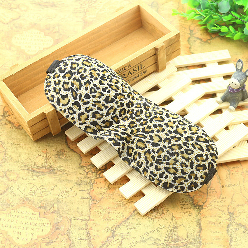 GETEK 3D Eye Mask Shade Cover Eyepatch Blindfold Shield Travel Sleeping Aid (Leopard)