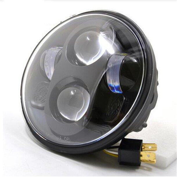 Headlight For Harley Davidson 883 5-3/4 5.75 Inch Motorcycle Projector Hi / Low HID LED Front Driving Headlamp Head Light - Intl