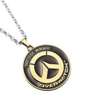 Hequ New Chic Game Portachiavi Overwatch Antibrass Alloy Pendant Key Chain/ Necklace Gift Bronze - intl