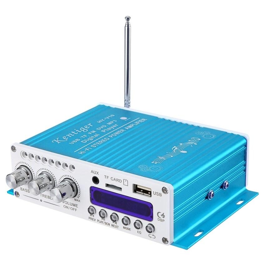 Kentiger V10 Bluetooth Hi-Fi Class-D Stereo Super Bass Audio Power Amplifier (Blue)