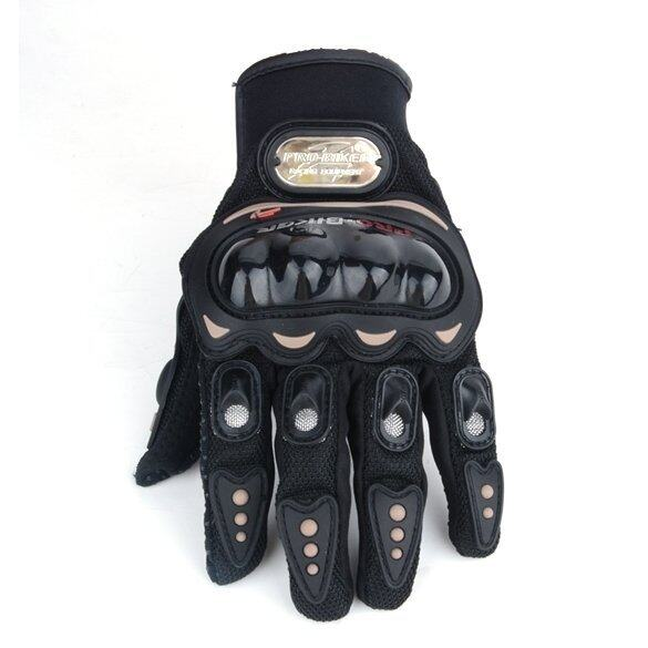 LCD Motorcycle Bike FULL FINGER Racing Riding Protective Gloves M (Black)