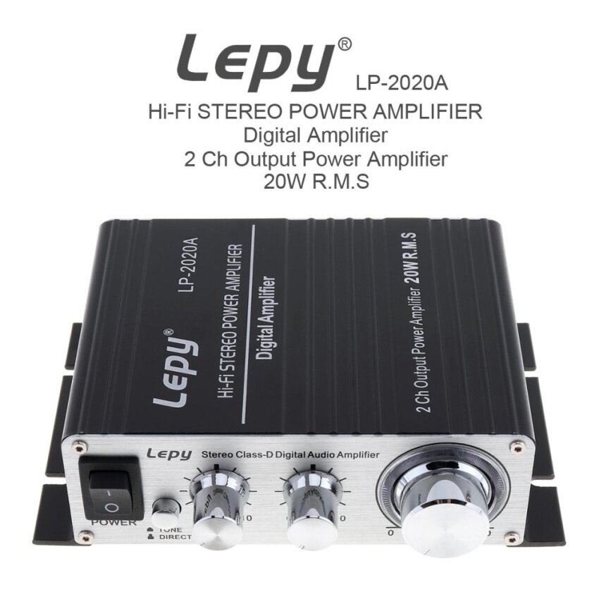 LP-2020A 20W x 2 2CH Stereo Class-D Digital Audio Amplifier Hi-Fi Stereo Power Amplifier with Over-current Protection - intl