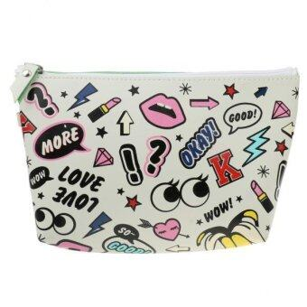 MagiDeal Fashion Cosmetic Makeup Purse Wash Bag Organizer Pouch Pencil Case Bag Color - intl