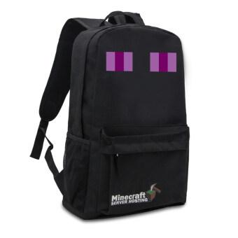 Minecraft backpack Zipper Travel Bags Book Bag School Students Pack Bag (black) - Intl