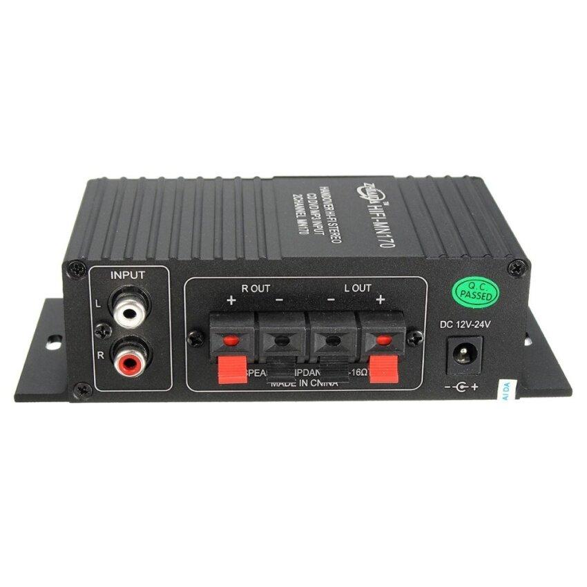 Mini 15W*2 CH HIFI Stereo Audio Power Amplifier Bass Booster MP3 For Car Home Black - intl