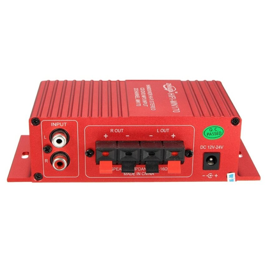 Mini 15W*2 CH HIFI Stereo Audio Power Amplifier Bass Booster MP3 For Car Home Red - intl