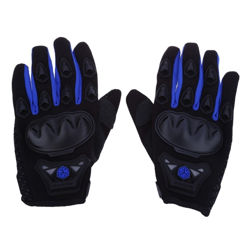 MiniCar Paired Full Finger Motorcycle Gloves Motorbike Motocross Breathable Protective Gears Blue size:m(Color:Blue) - intl