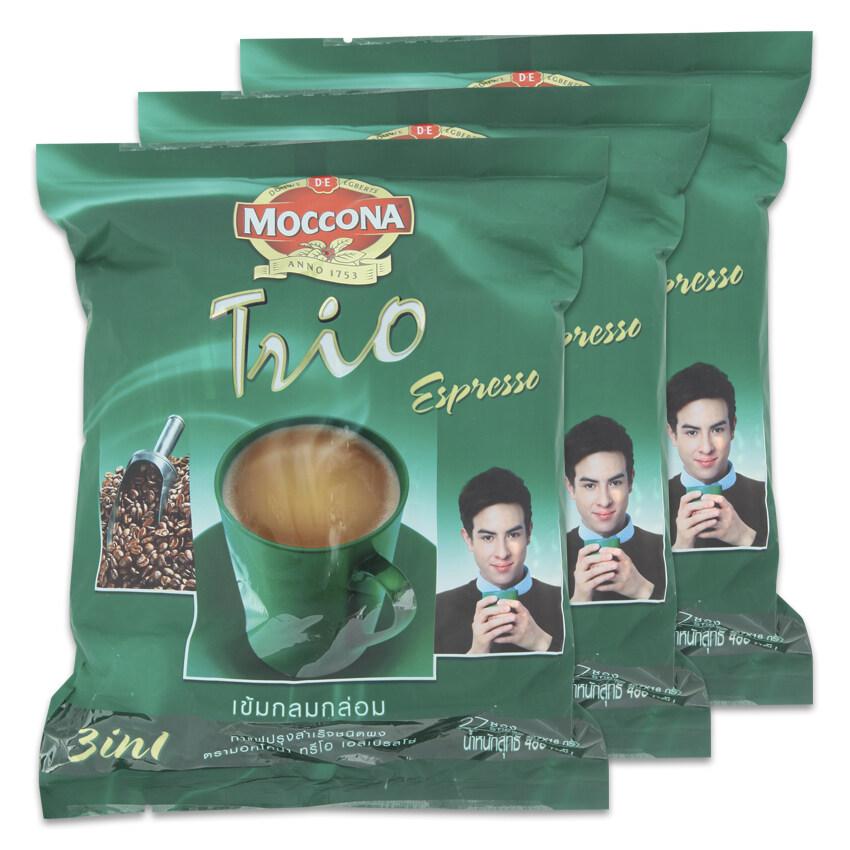 MOCCONA มอคโคน่า กาแฟปรุงสำเร็จชนิดผง ทรีโอ เอสเปรสโซ 18 กรัม x 27 ซอง (ทั้งหมด 3 ถุง)